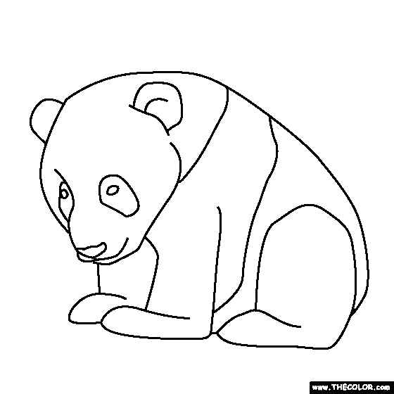 simple printable baby panda coloring pages