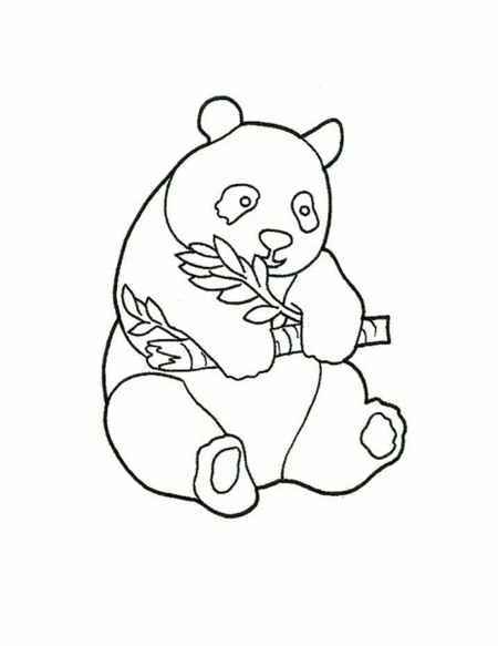 simple baby panda coloring page for childrens