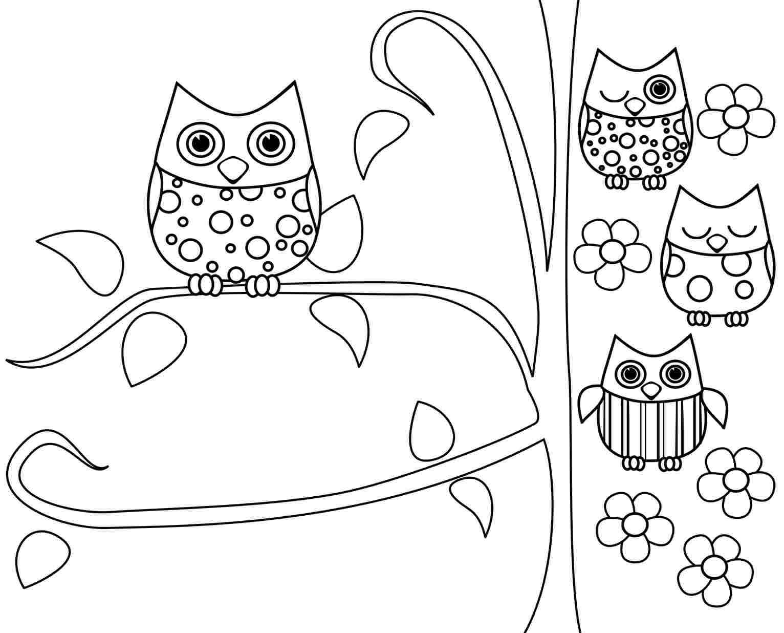 owl coloring pages free printable