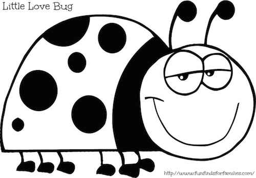 funny ladybug coloring pages free printable