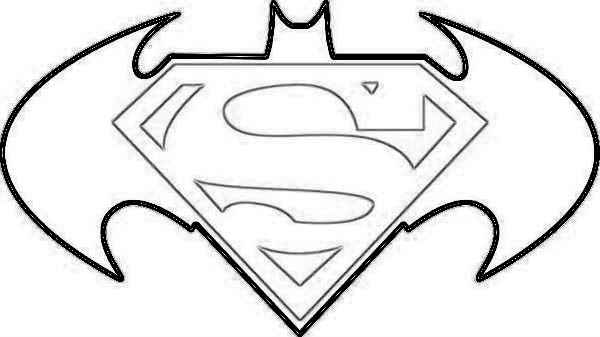 printable superman symbol coloring pages