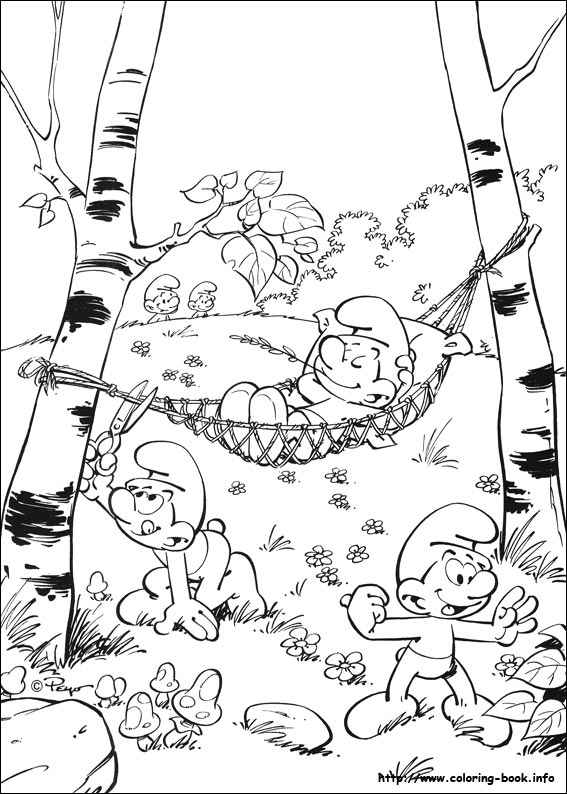 grouchy smurf coloring pages