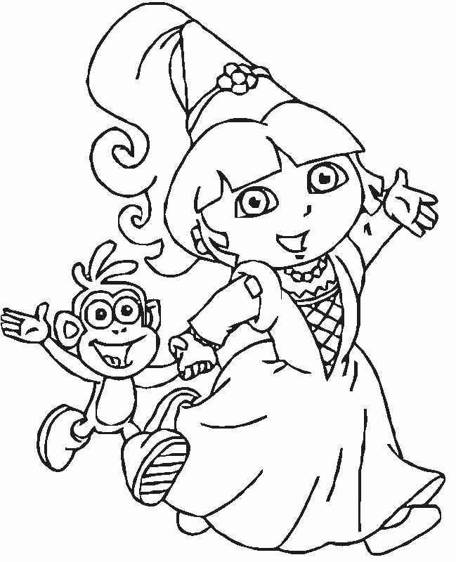 Dora The Explorers Printable Coloring Pages Free