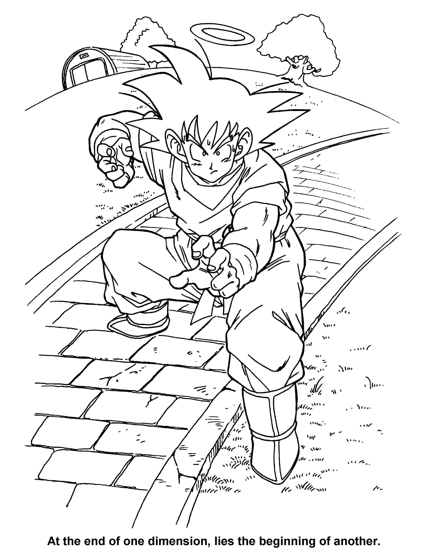 dragon ball z coloring pages super saiyan 4