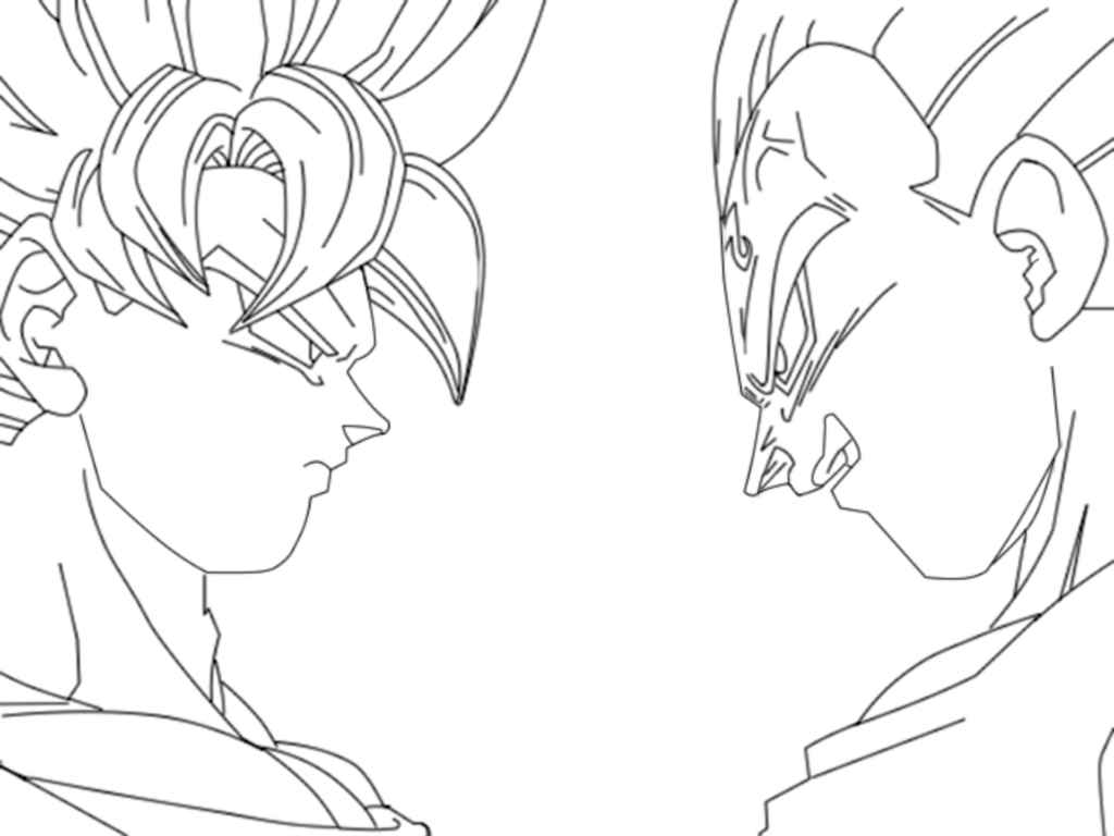 dragon ball z free coloring pages printable