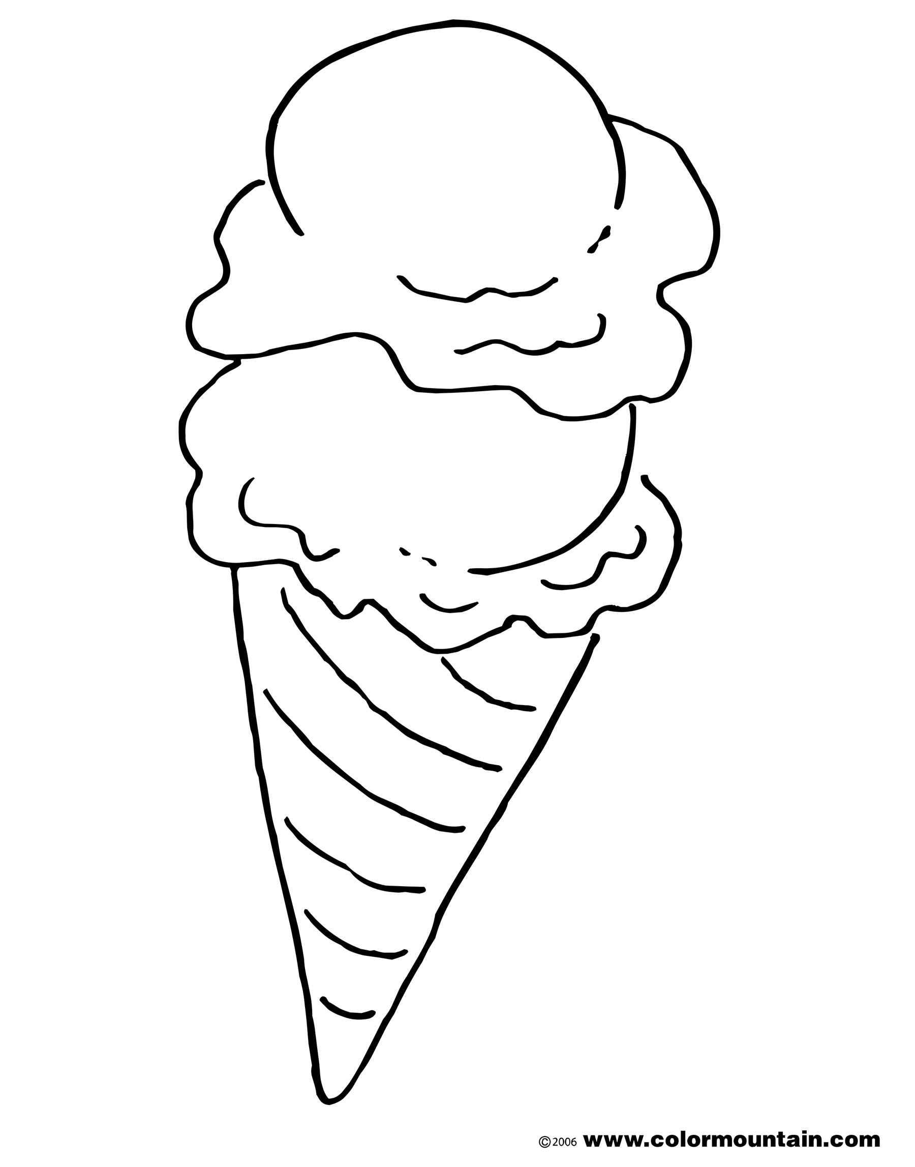 ice cream cone coloring pictures