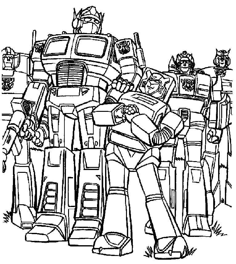 bumblebee transformer colouring in pages
