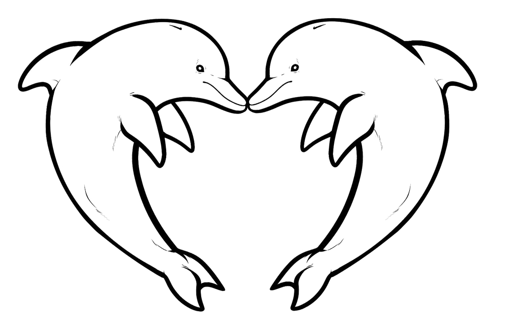 dolphins-coloring-pages