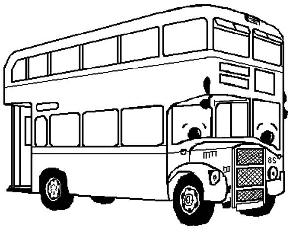 Double Decker Bus Transportation Coloring Pages