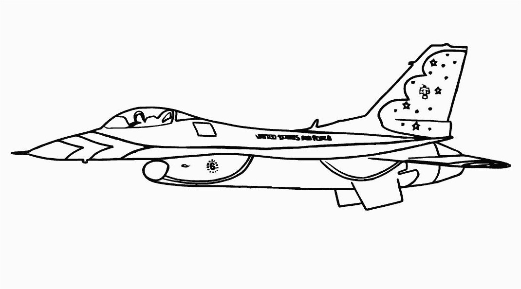 Fighter Jet Airplane Coloring Pages