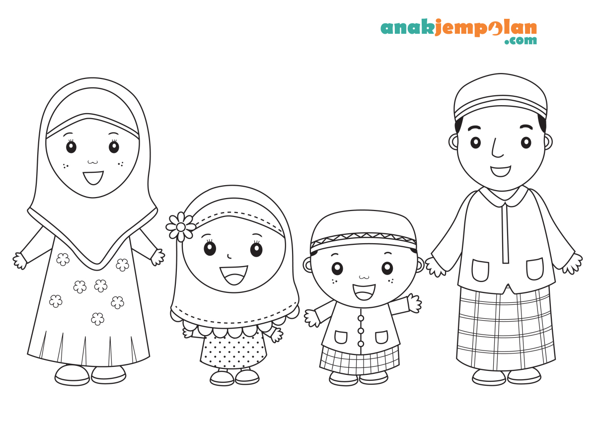 muslim-family-coloring-pages