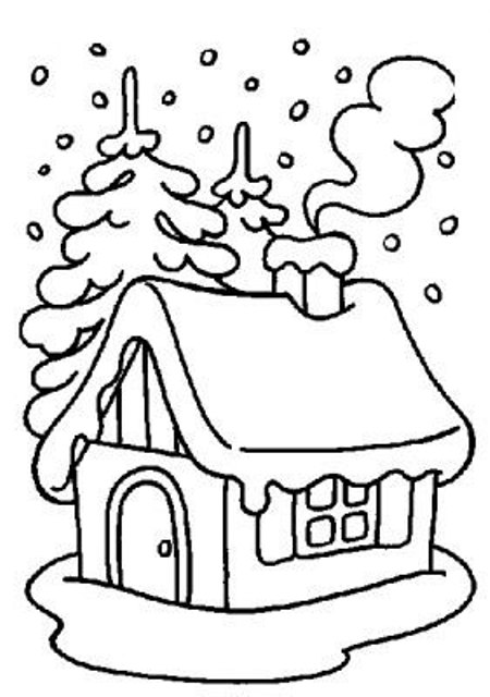 home-in-winter-coloring-pages