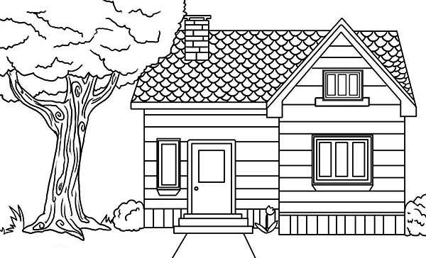 home and house coloring pages - House Coloring Pages Toddlers