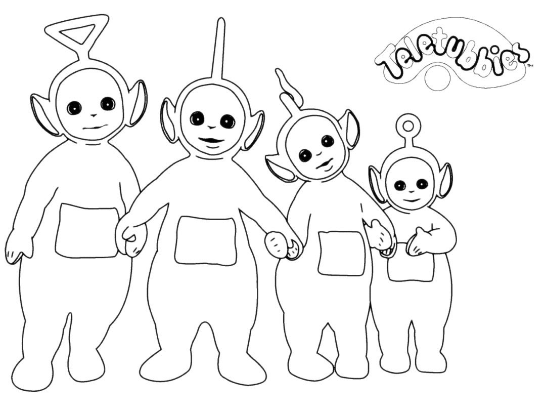 79 teletubbies coloring pages po is hiding from the
