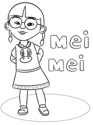 Mei Upin Ipin Coloring Pages 300x403