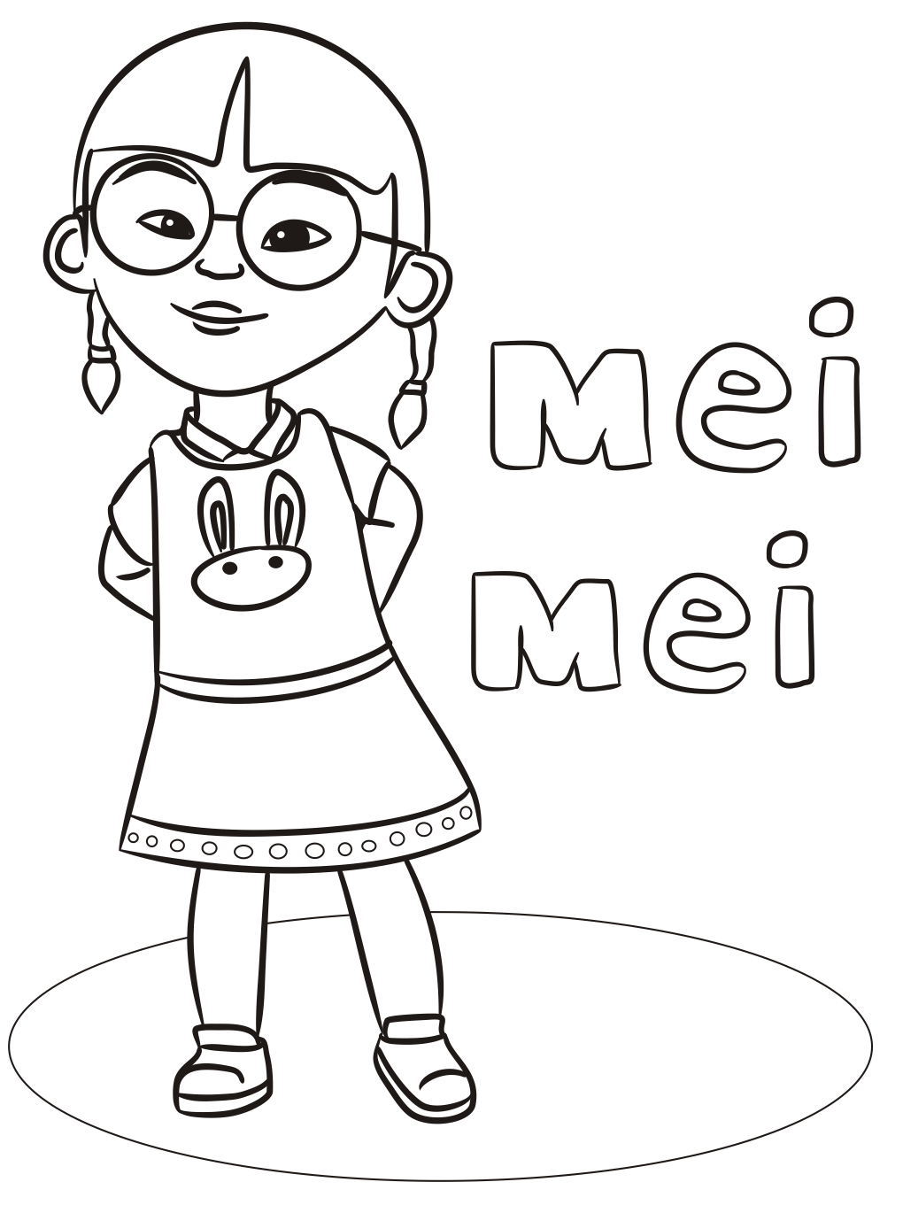 Mei Upin Ipin Coloring Pages