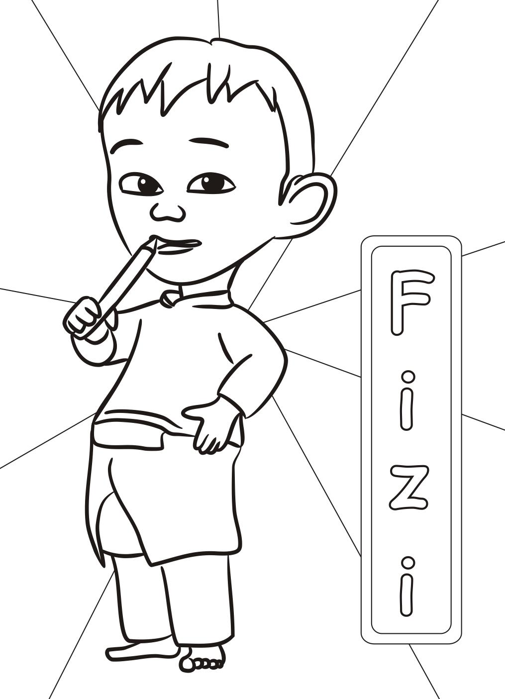 fizi-upin-ipin-coloring-pages