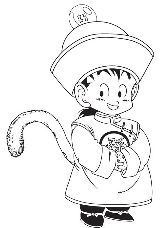 Cute-Dragon-Ball-Z-Coloring-Page