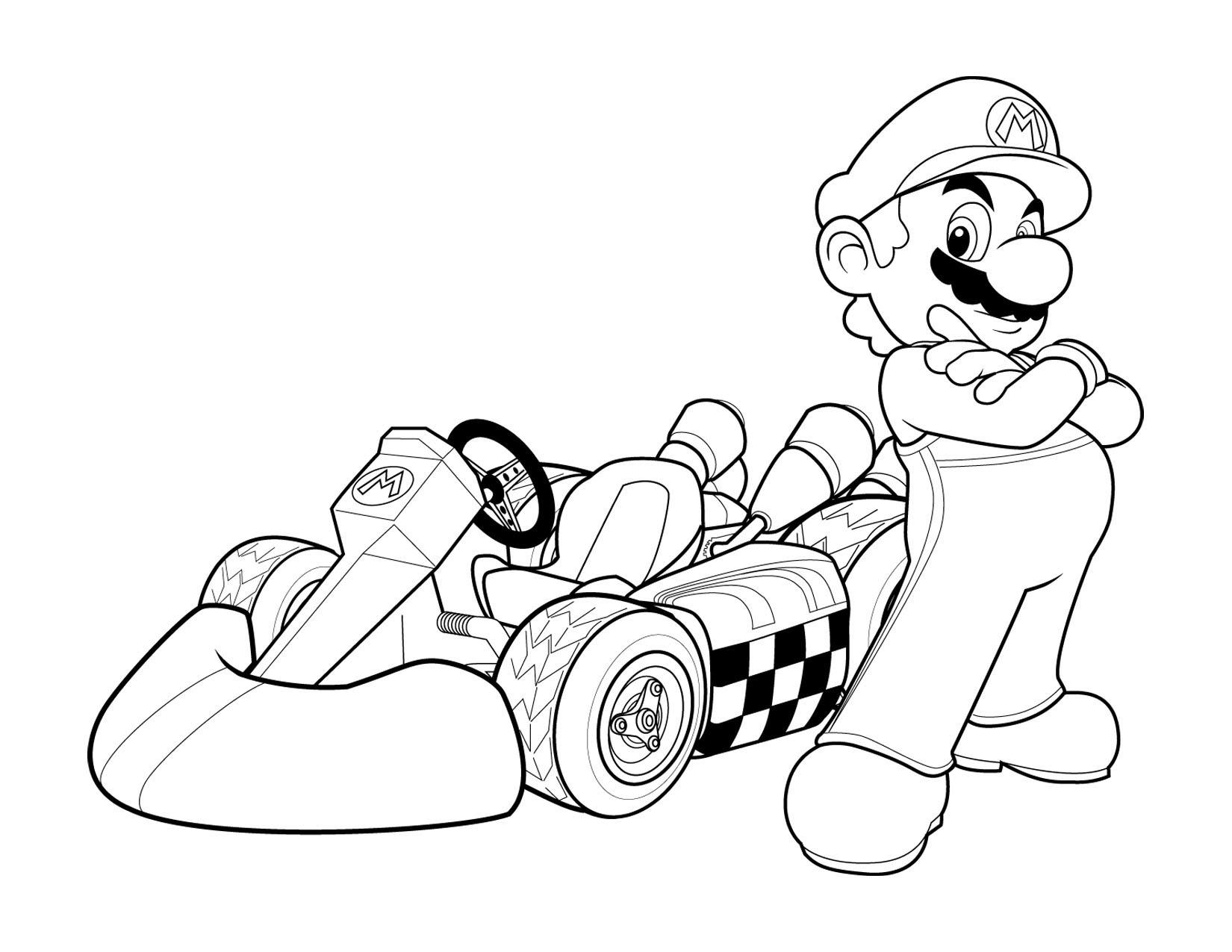 Super Mario and his car