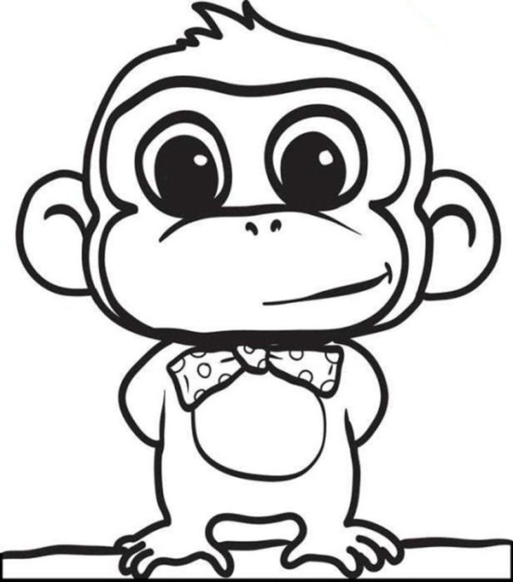 Monkey-cute-animals-Coloring-Pages