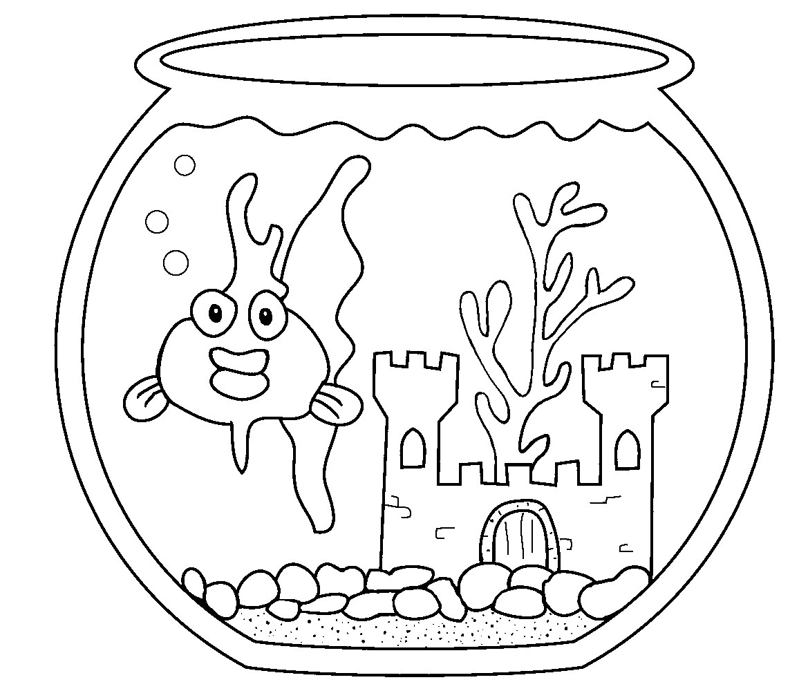 Coloring Pages Fish Tank