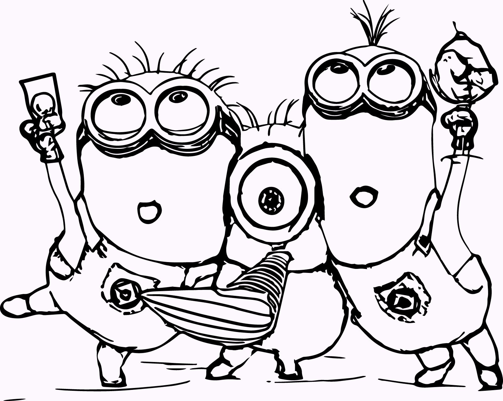 Cute Minion Pictures To Color