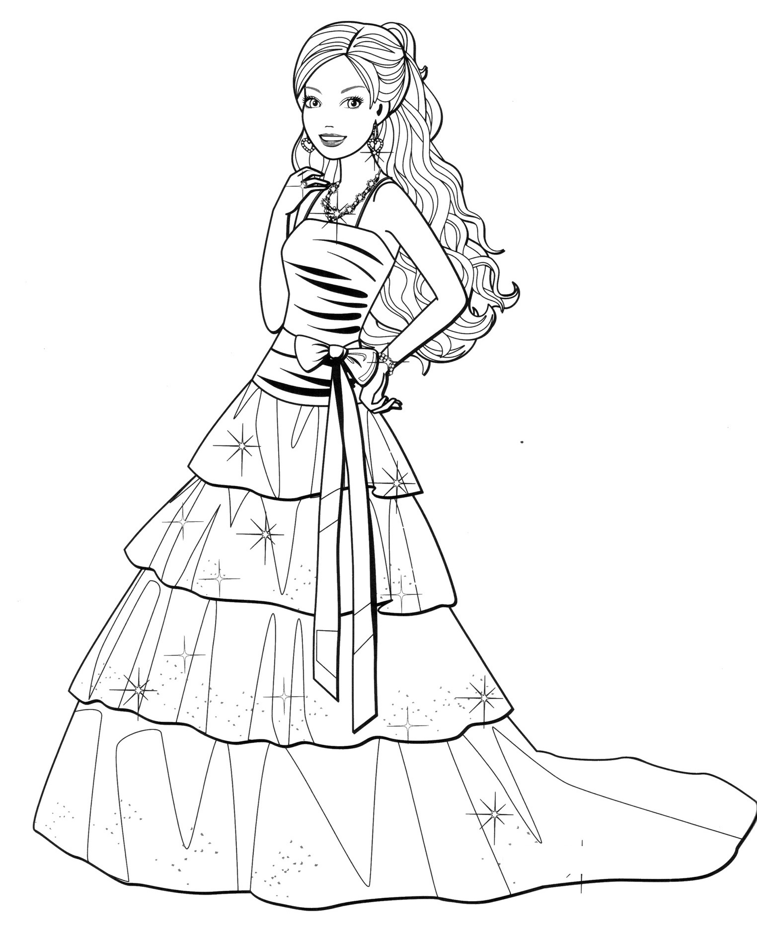 Fashion Dress Pages Coloring Pages