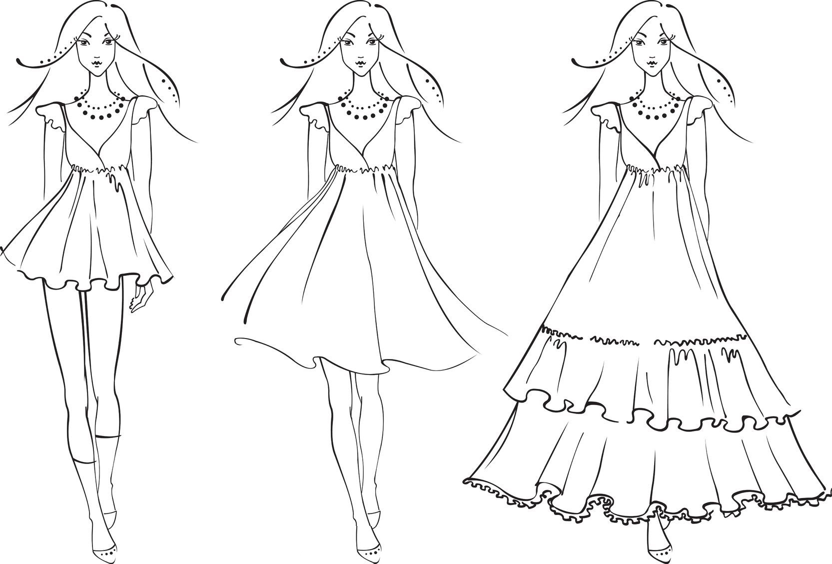 fashion dress coloring pages 02jpg