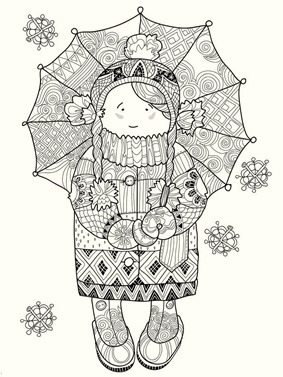 a-girl-with-umbrella-in-winter-season-coloring-pages