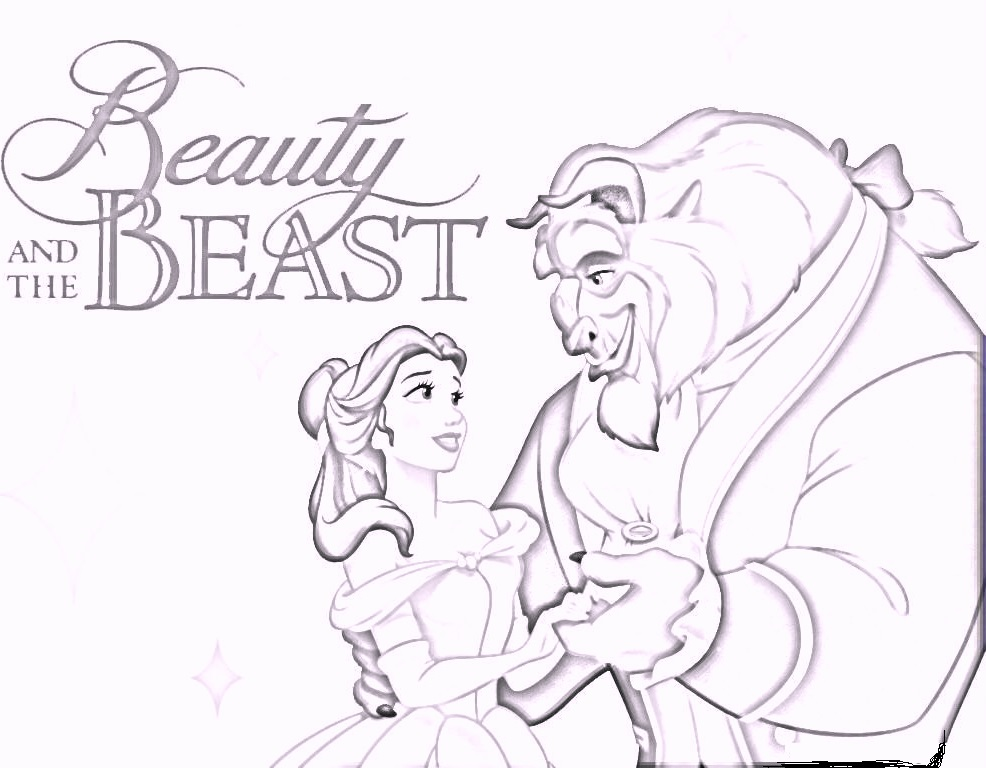beauty-and-the-beast-coloring-pages
