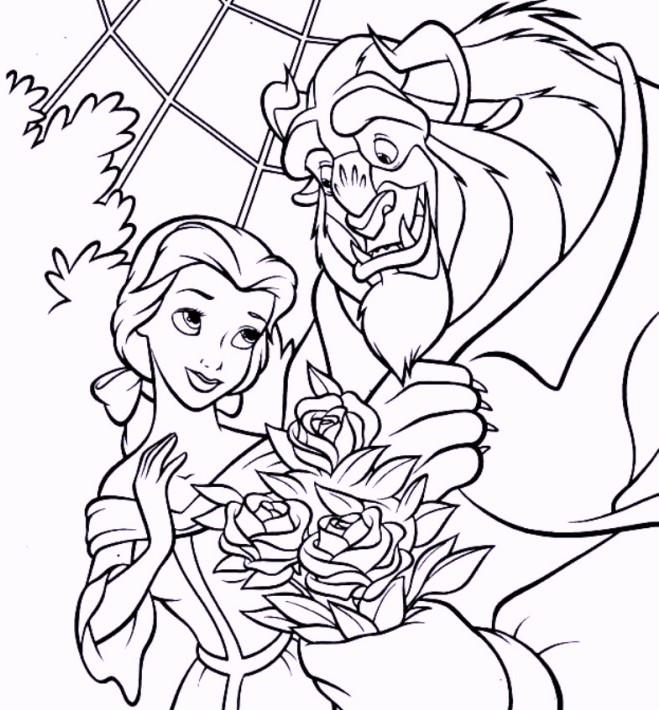 beauty-and-the-beast-coloring-sheets