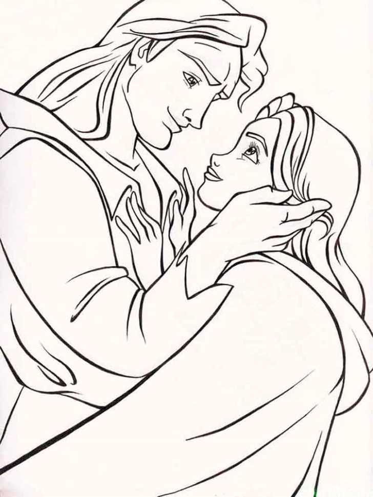 before-transformed-beauty-and-the-beast-coloring-pages