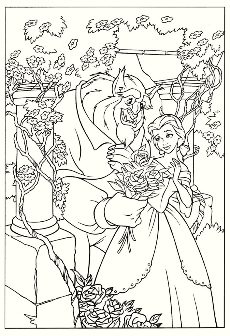 coloring pages beauty and the beast 2017 high resolution beauty and the beast coloring page