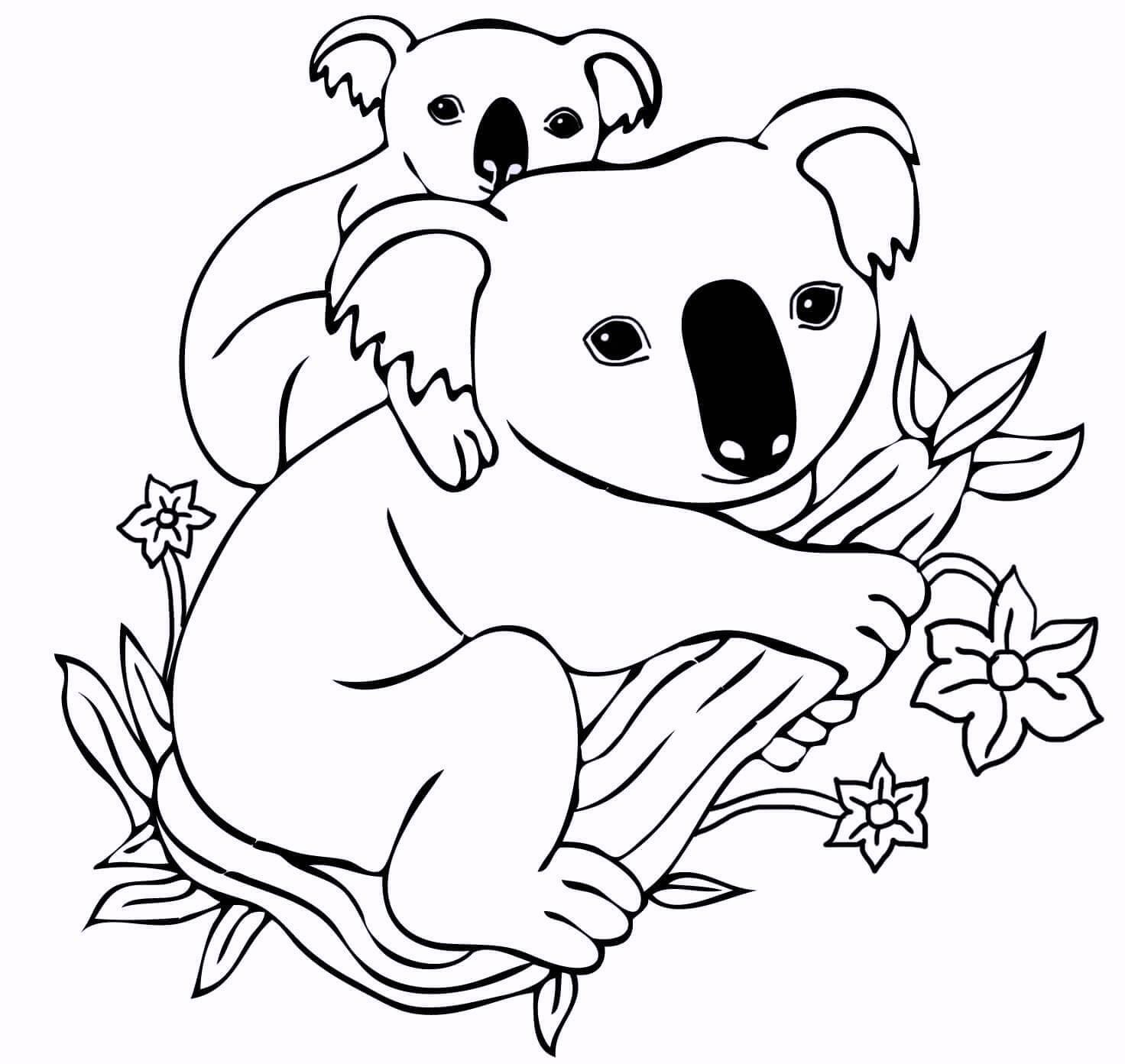 koala-and-babies-coloring-pages