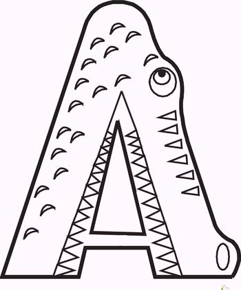 a-alphabet-crocodile-coloring-pages
