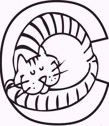 c-alphabet-cat-coloring-pages