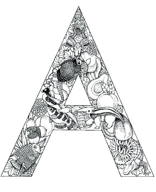 coloring_pages_animal_plant_abc_alphabet_A