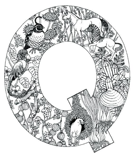 coloring_pages_animal_plant_abc_alphabet_Q
