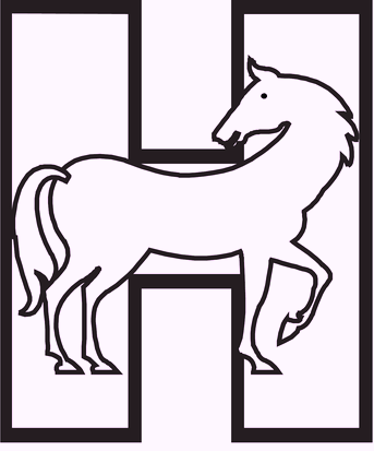 h-for-horse-alphabet-coloring-pages