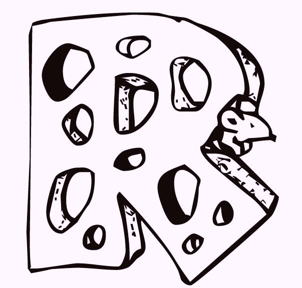 Alphabet-R-Cheese-and-Mouse-coloring-pages