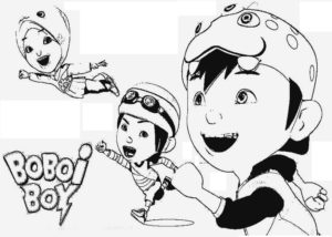 Boboi Boy Animation Coloring Pages 300x214
