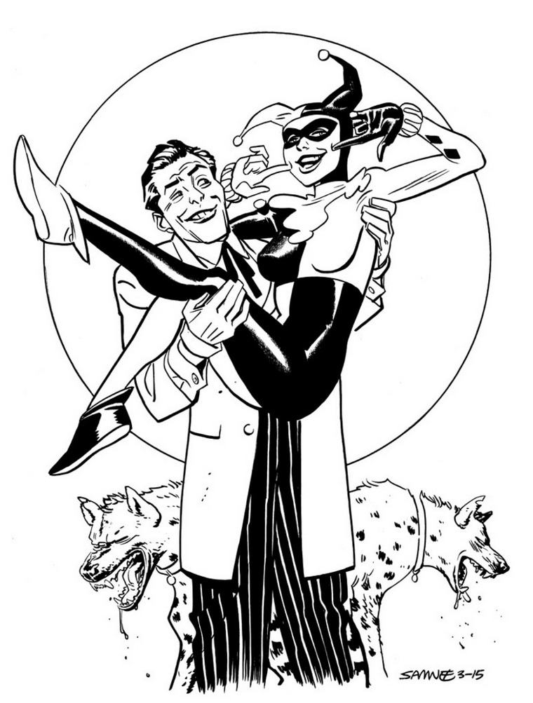 dc comics mad love harley quinn coloring pagejpg