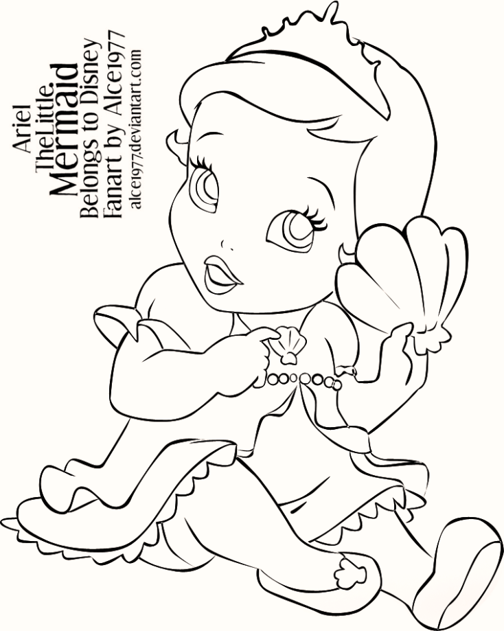 baby_ariel_the_little_mermaid_coloring_pages