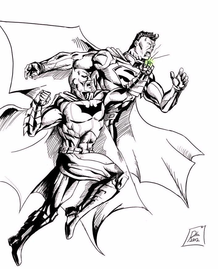 dc_comics_superhero_batman_vs_superman_coloring_pages