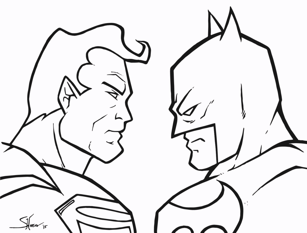 Batman And Superman Coloring Pages Coloring Pages