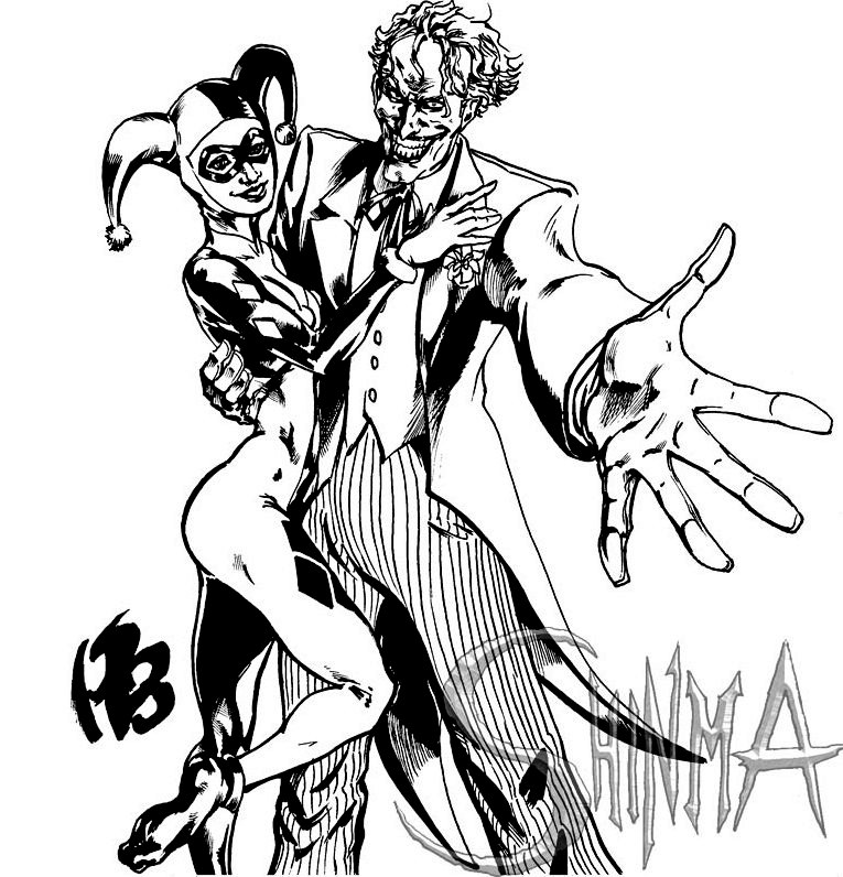 Harley Quinn Joker Coloring Pages Coloring Pages Ideas