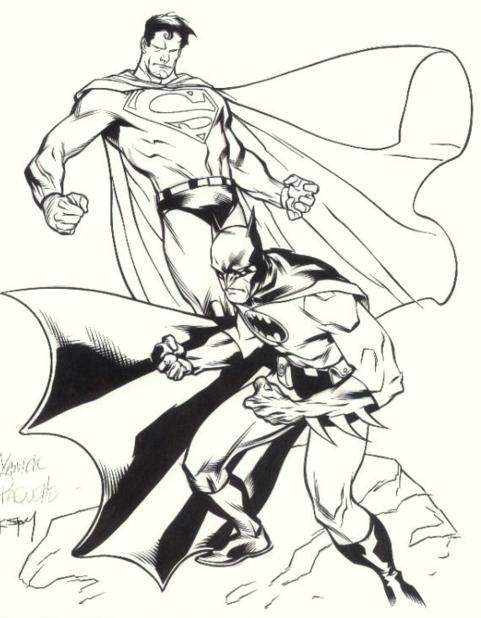 Printable Batman Vs Superman Coloring Pages For Kids