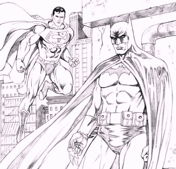printable-batman_vs_superman_coloring_pages