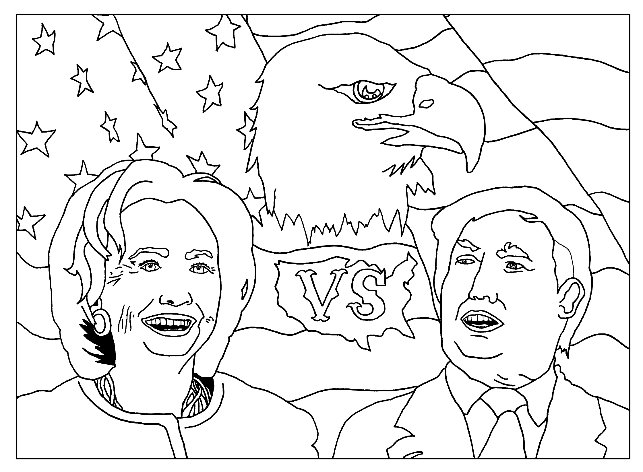 Hillary-vs-Donald-Trump-coloring-page