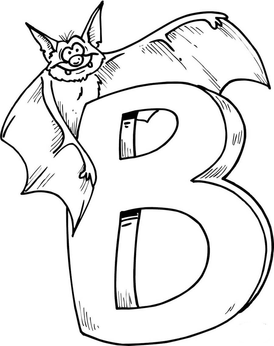 Alphabet-B-is-for-bat-coloring-page-printable